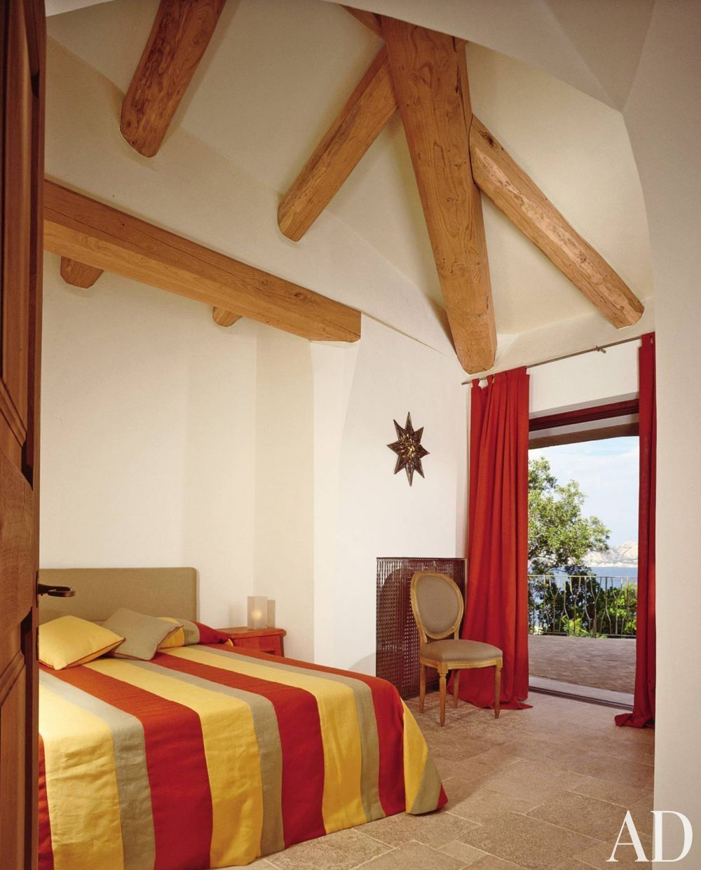 Modern Bedroom and Savin Couëlle in Sardinia, Italy