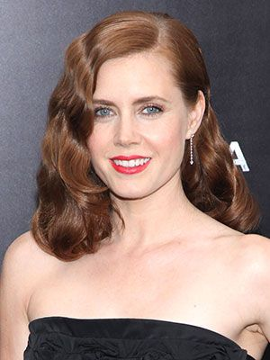 """Amy Adams opted for a deep side part at the """"Man of Steel"""" premiere."""
