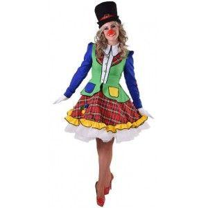 Clown Enfants Costume Fille Arlequin Robe Clown Costume Mardi Gras Déguisement