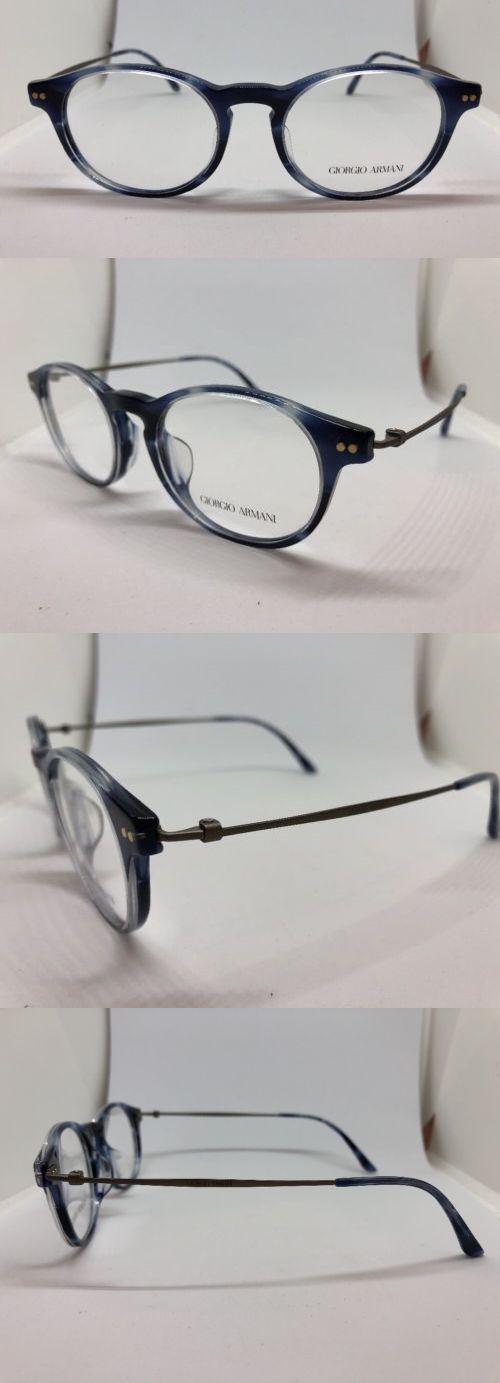 ff66f010e07a NEW Giorgio Armani AR7010-F 5024 Striped Blue 49.18.140 TITANIUM Eyeglass  Frames