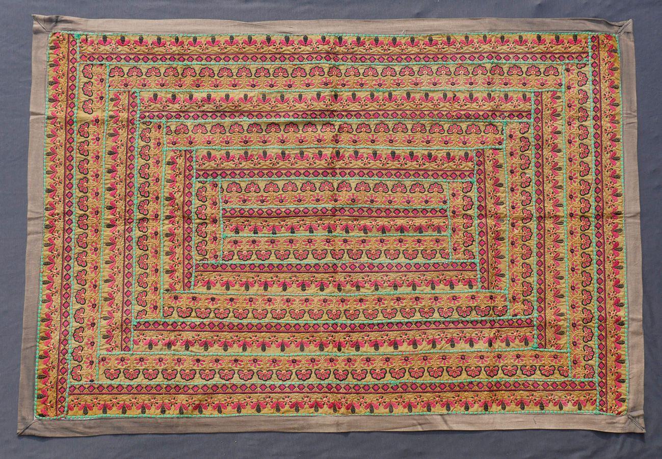 Vintage Sari Wall Hanging.  http://naggarvalley.com/product/vintage-sari-wall-hanging-107cm-x-157cm/