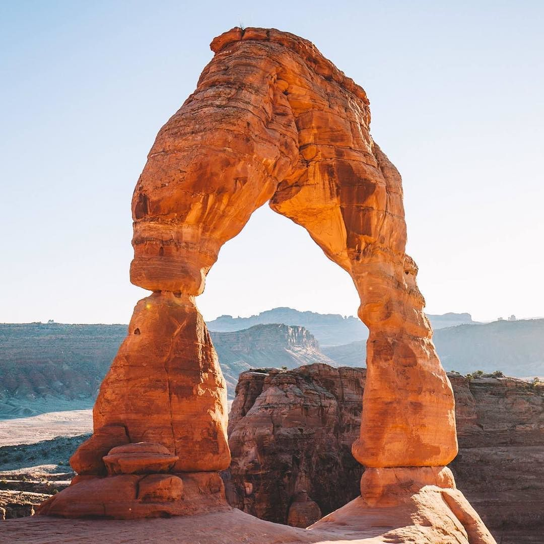 Sunset at Delicate Arch Re-post by Hold With Hope