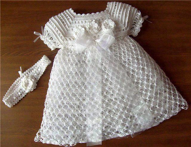 Patron de vestido de niña tejido a crochet - Imagui