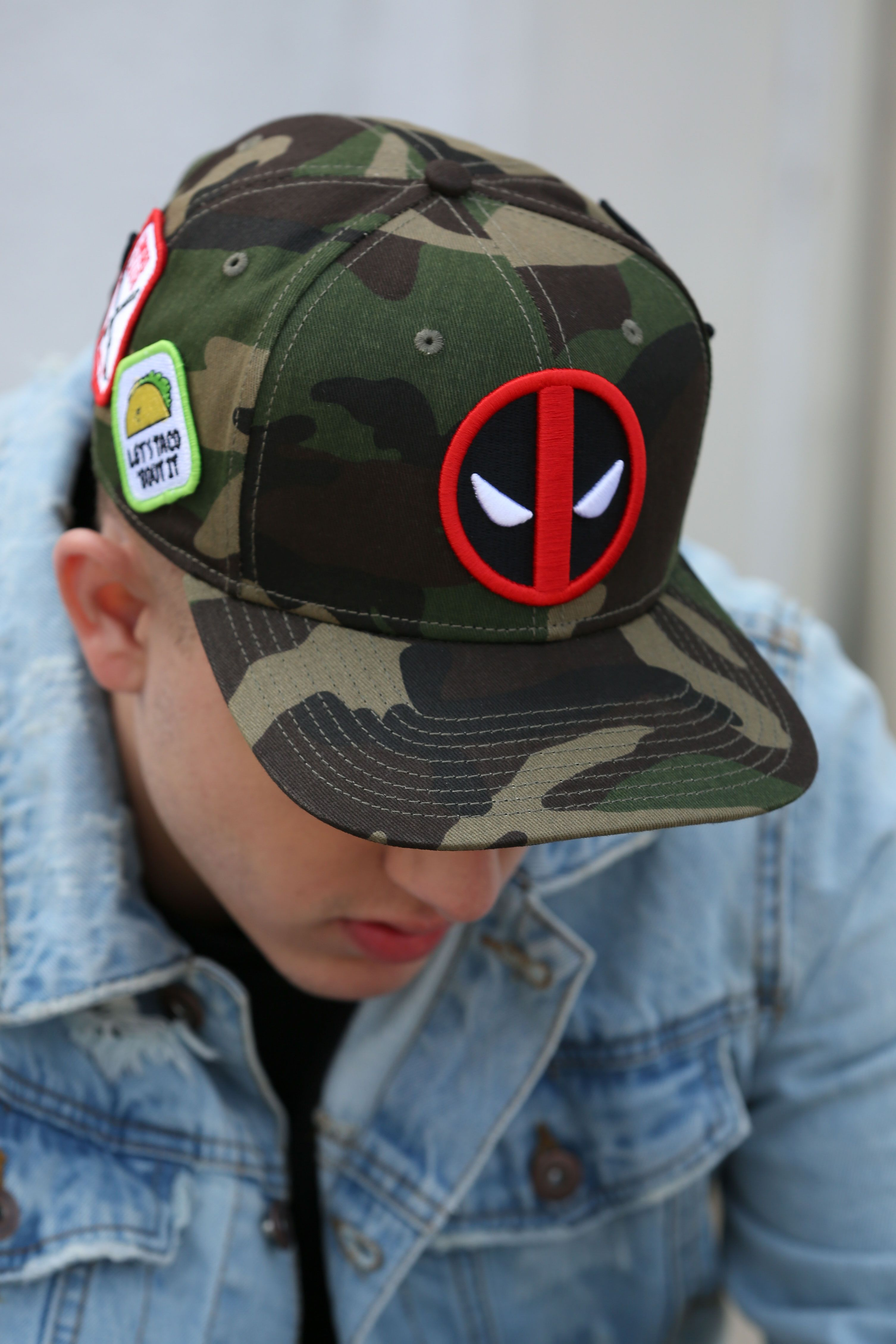 sale retailer 1570a 016c7 Let s Taco About this hat! New Deadpool gear available now at Lids.