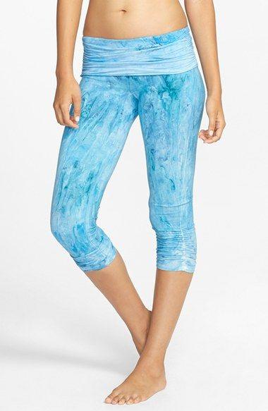 b2299d3de3ea5 OMGIRL 'Ahimsa - Marble Dye' Organic Cotton Capri Leggings available at  #Nordstrom