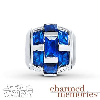 No need to go to a galaxy far, far away…. for this blue Star Wars barrel charm!