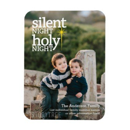 Night Holy Night Christian Christmas Magnet