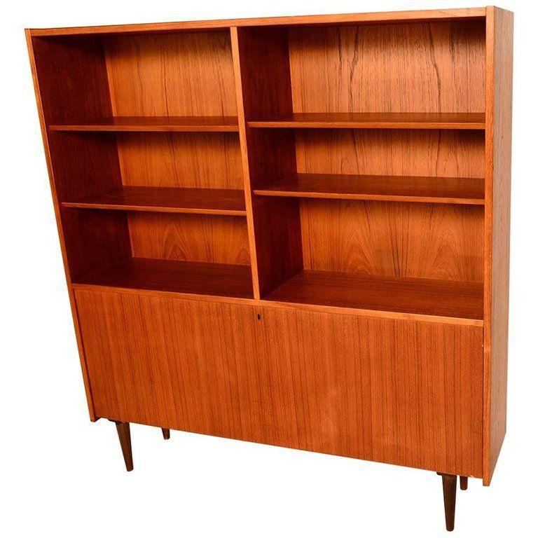 Midcentury Danish Bookcase In Teak 1960s From A Unique