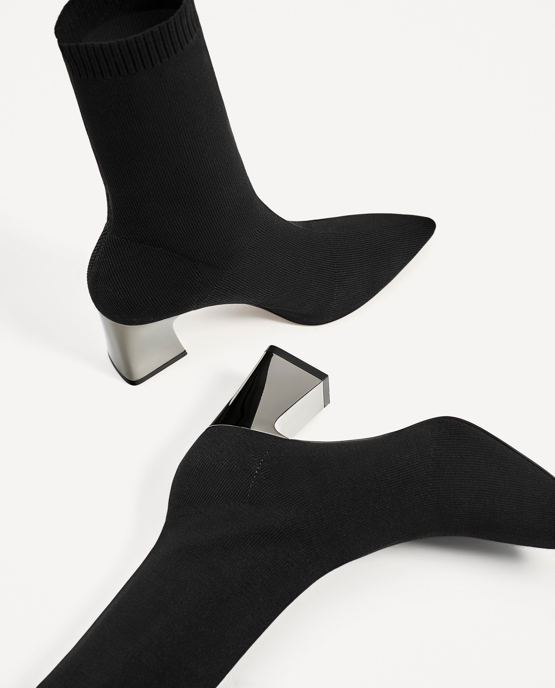 bbdacc10f97 FABRIC HIGH HEEL ANKLE BOOTS WITH STRETCH - NEW IN-WOMAN-COLLECTION AW/17    ZARA