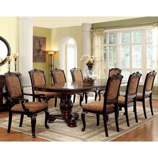 Shop For Furniture Of America Oskarre Iii Brown Cherry 9Piece Custom 9 Piece Dining Room Design Ideas