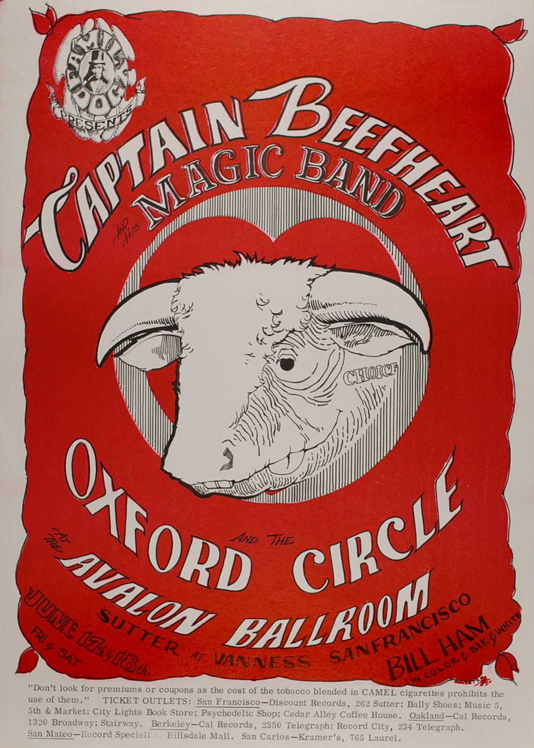 17.-.18.6.1966; captain beefheart and his magic band; usa, s.f. avalon ballroom; (db)
