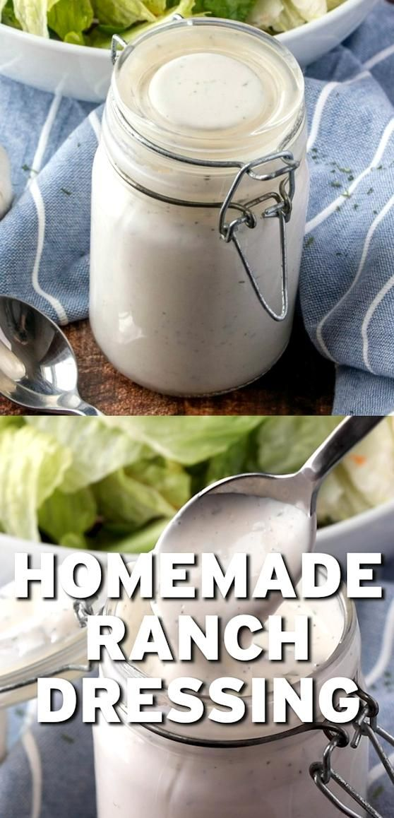 This Homemade Ranch Dressing Is The Best Tasting Dressing Buttermilk Mayonnaise Sour Cream And The Perfe In 2020 Homemade Ranch Dressing Ranch Dressing Homemade Ranch
