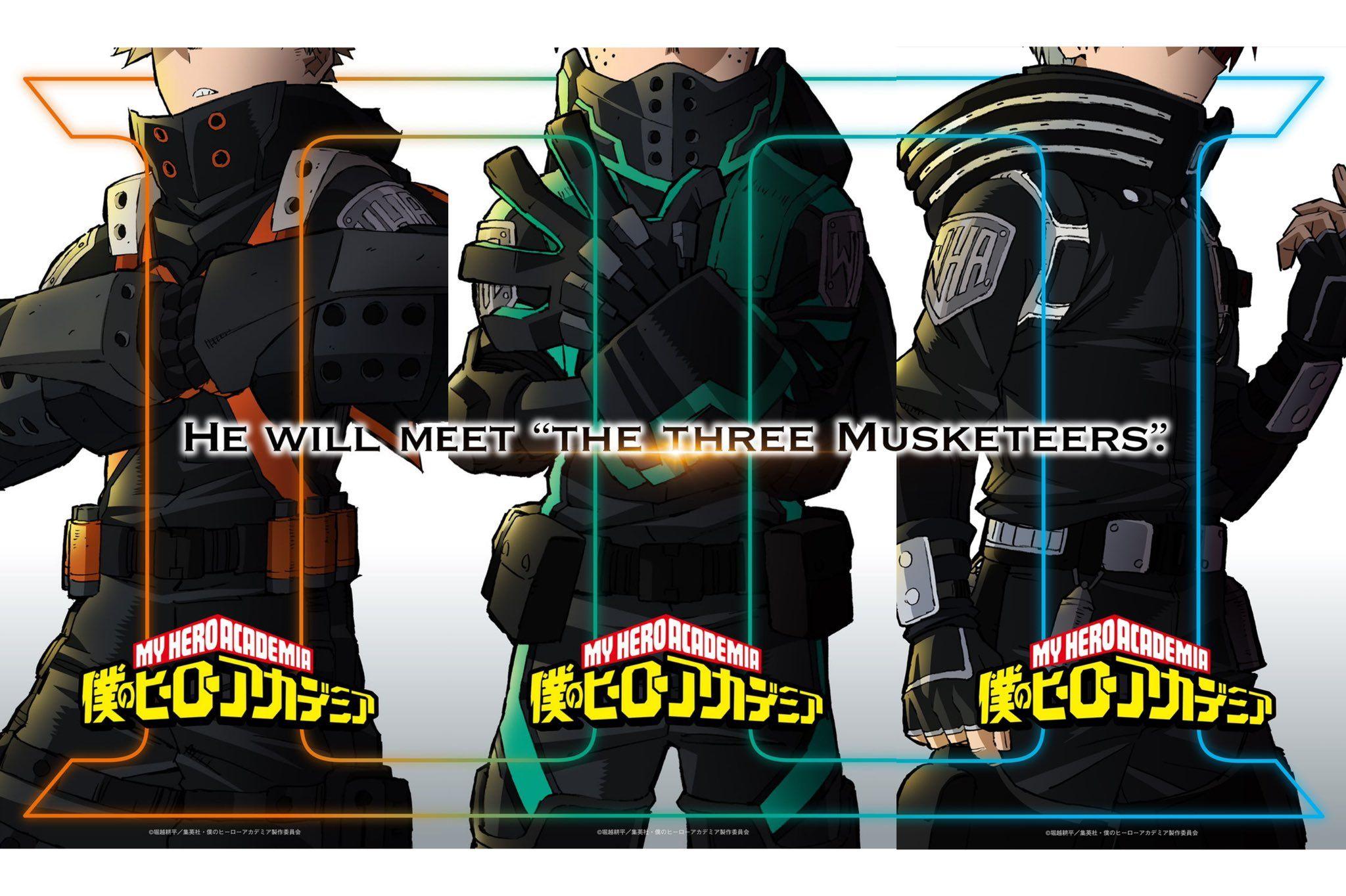 My Hero Academia Movie 3 Has Been Announced With A Key Visual The Three Musketeers Hero Movie My Hero Academia