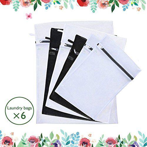 Ecteak Mesh Travel Laundry Wash Bag With Zipper And Hang Loop Set