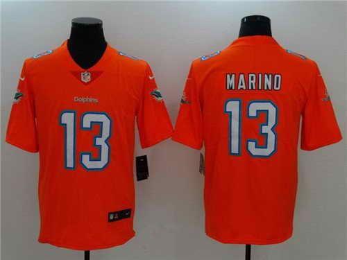 21 Men s Miami Dolphins  13 Dan Marino Stitched Orange 2017 Vapor  Untouchable NFL Nike Limited Jersey 3c1678465