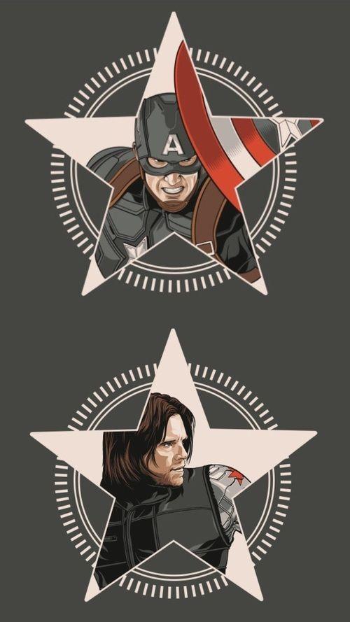Grafika Barnes Rogers And Bucky Marvel Comics Wallpaper Marvel Wallpaper Captain America Wallpaper