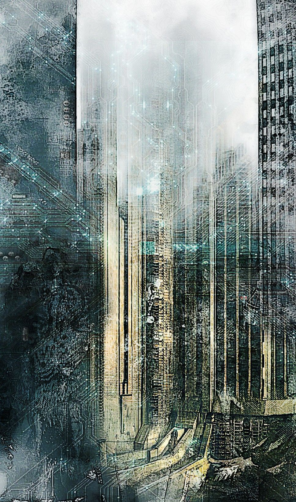 Background Dystopian City By Background Utopia Dystopia Abstract Artwork