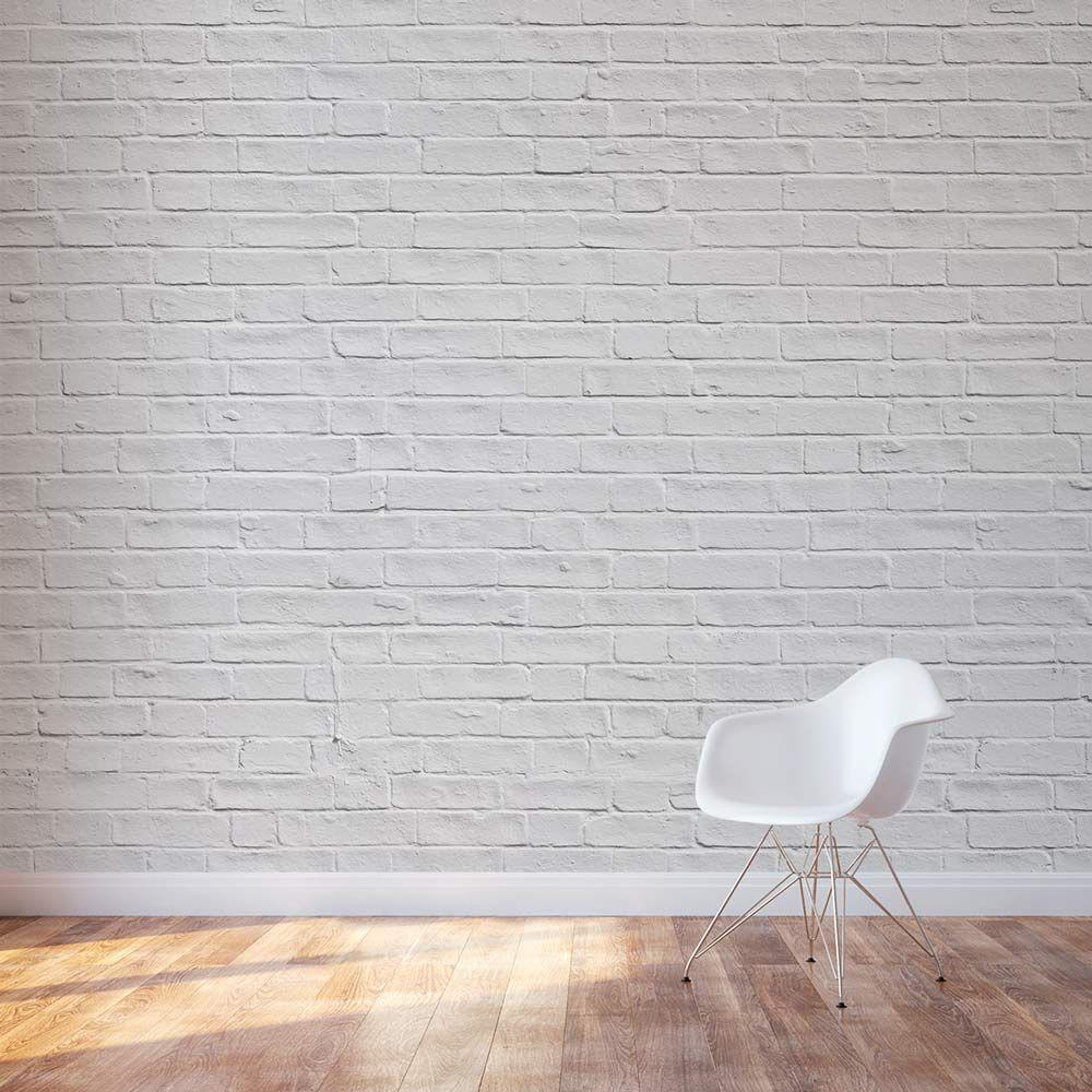 White Brick Wall Mural White Brick Wall Living Room Brick