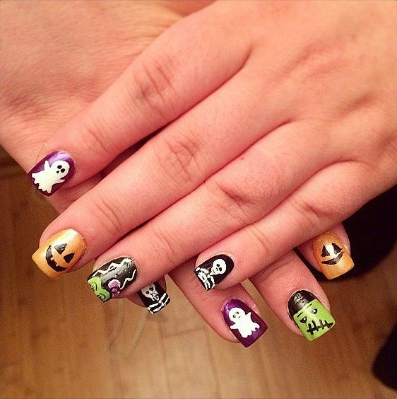 Mischief Night Manicure Halloween Nails Diy Halloween Nails Halloween Nail Designs