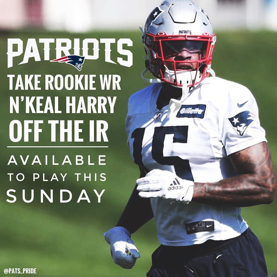 Wr N Keal Harry Is Off Of The Ir Hopefully We Will Play Tomorrow New England Patriots Workout Plan Patriots