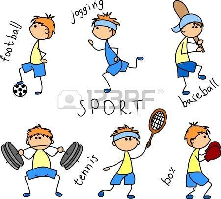 Dibujos Animados Icono Del Deporte Imagenes De Deportes Animados Deportes Dibujos Deportes Animados
