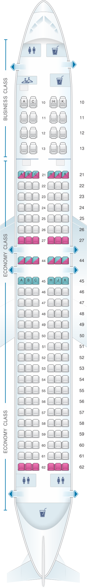 Seat map el al israel airlines boeing  er also rh in pinterest