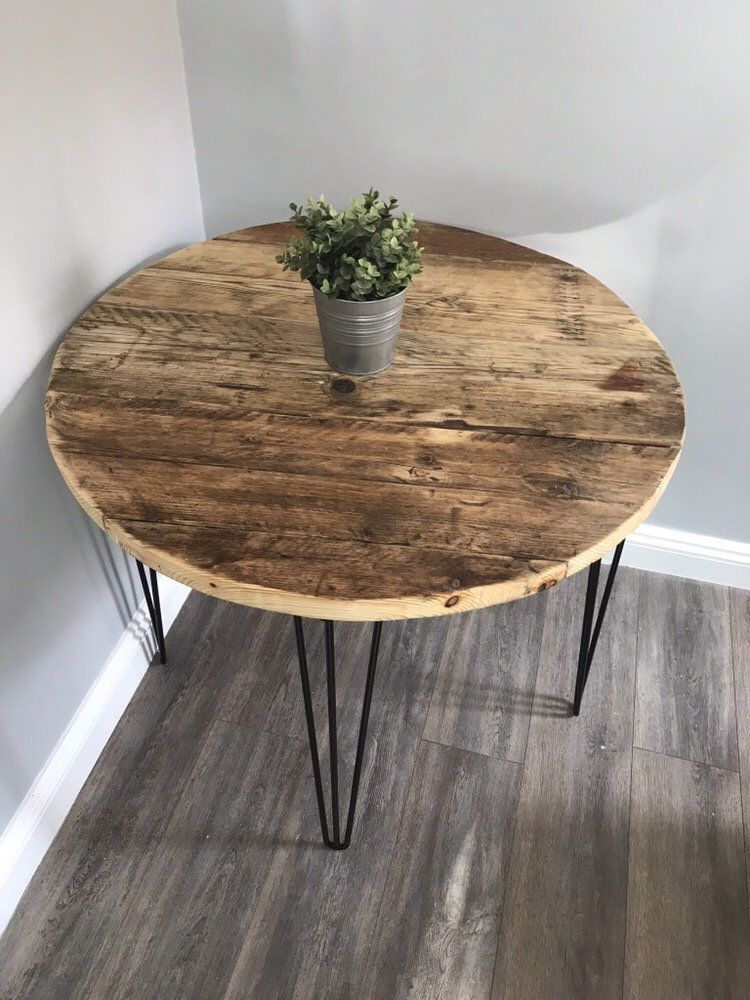 Alfiemodern rustic reclaimed wood rounded table etsy in