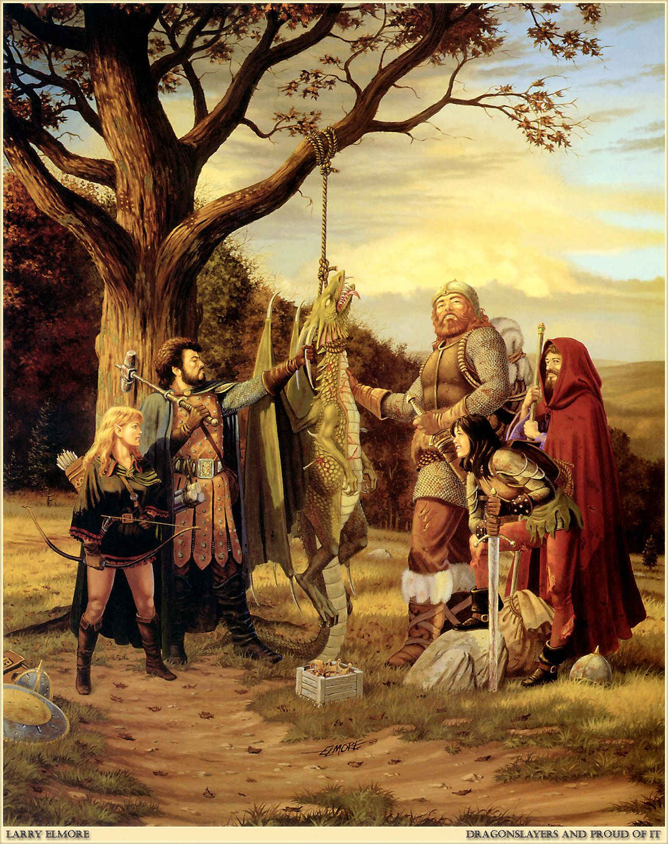 Larry Elmore - Dragonslayers and Proud of It - This Image made me play D&D  for life!