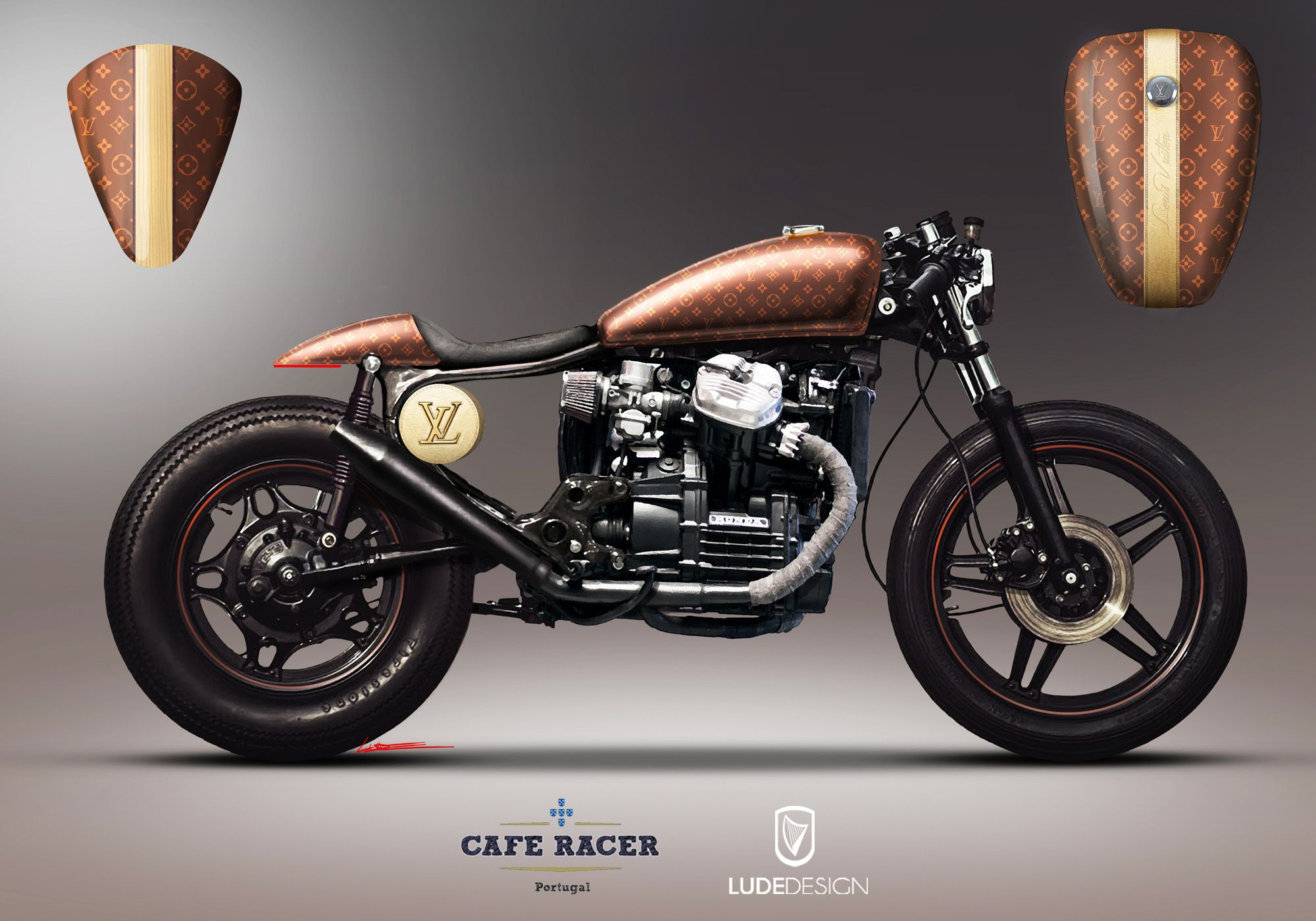 honda cx500 louis vuitton by andr costa ludedesign by cafe racer portugal vers o 2 andr. Black Bedroom Furniture Sets. Home Design Ideas