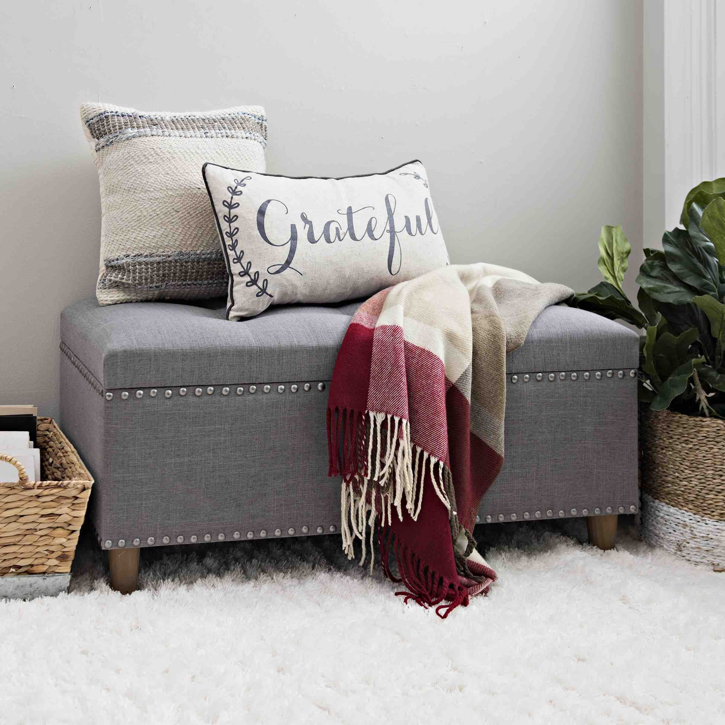 Every Home Needs A Cute Storage Bench For Extra Pillows And Blankets Benches For Living Room Living Room Storage Bench Living Room Bench Storage bench for living room