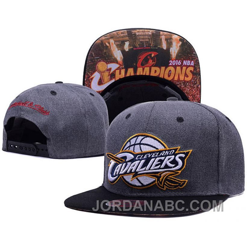 ... CLEVELAND CAVALIERS 2016 NBA FINALS CHAMPIS ADJUSTABLE HAT-GRAY ON SALE  Only  25.00  b09f84b9258