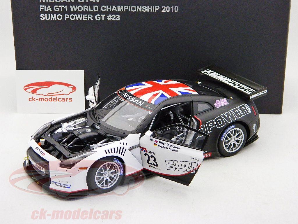 Nissan GT-R, FIA GT1 RHD World Cup 2010, No.23, M.Krumm / P.Dumbreck, Sumo Power GT Team. Auto Art, 1/18. Price (2016): 225 EUR.