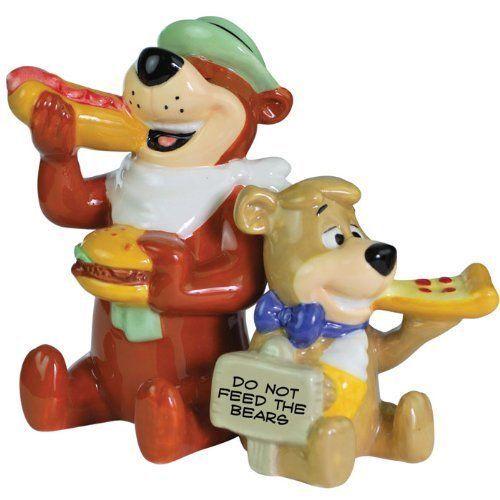 Salt & Pepper Shakers Set - Yogi Bear - Boo-Boo Eating New Gifts 22602