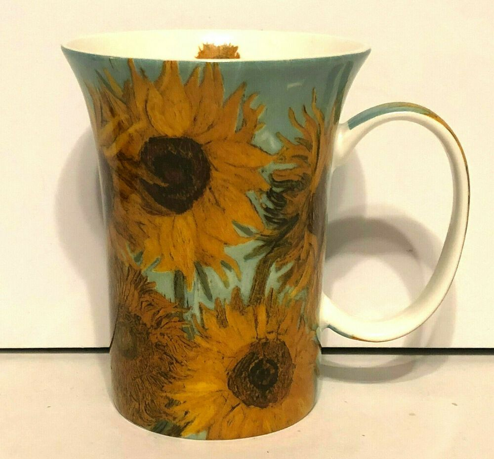 1f266afa4c2 Van Gogh Classics Sunflowers Coffee Mug McIntosh Fine Bone China ...