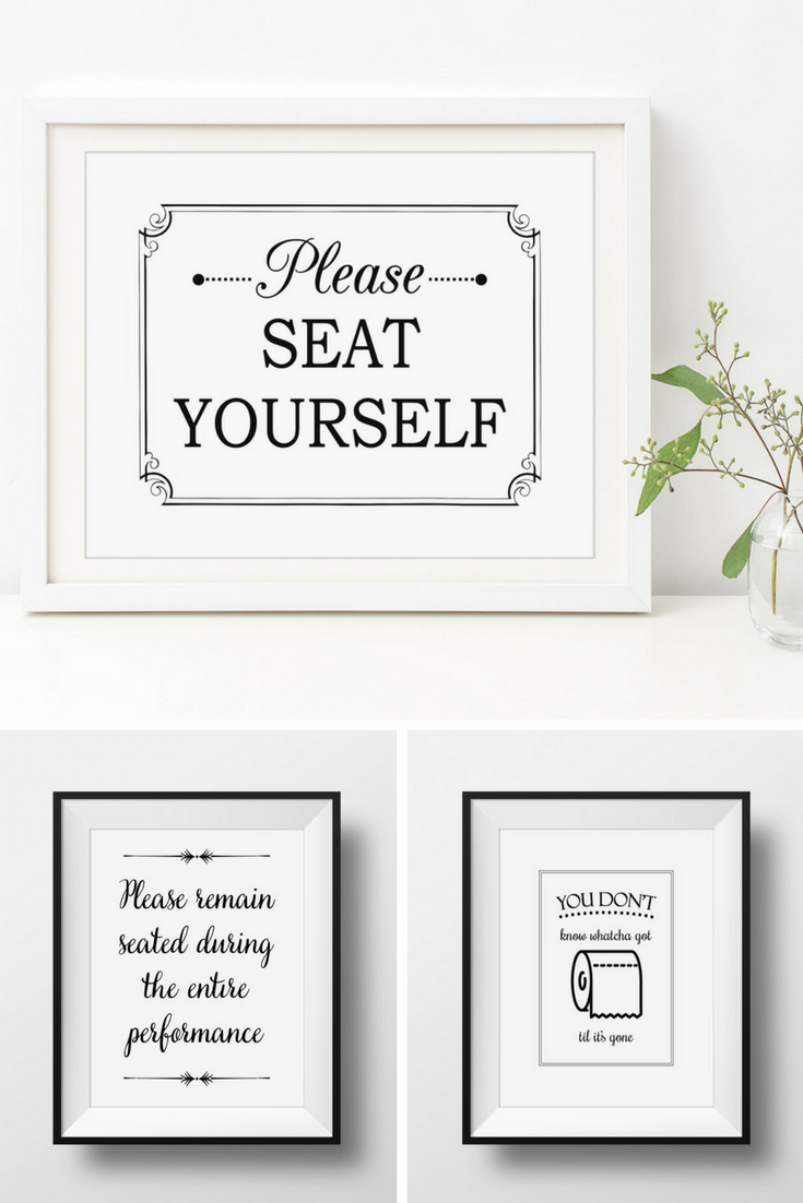 These Cheeky Bathroom Signs Are A Fun Way To Add A Bit Of Humor To Your Bathroom Decor Visit My Website Www O Bathroom Signs Funny Bathroom Art Bathroom Decor