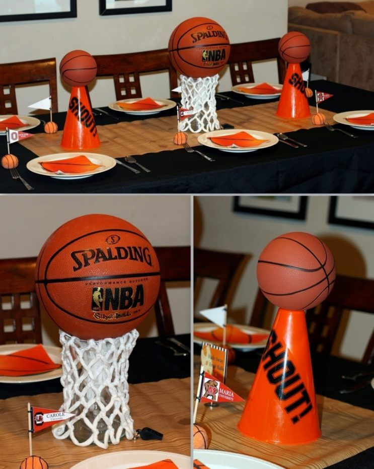 Superior March Madness Decorations 6 Basketball Table