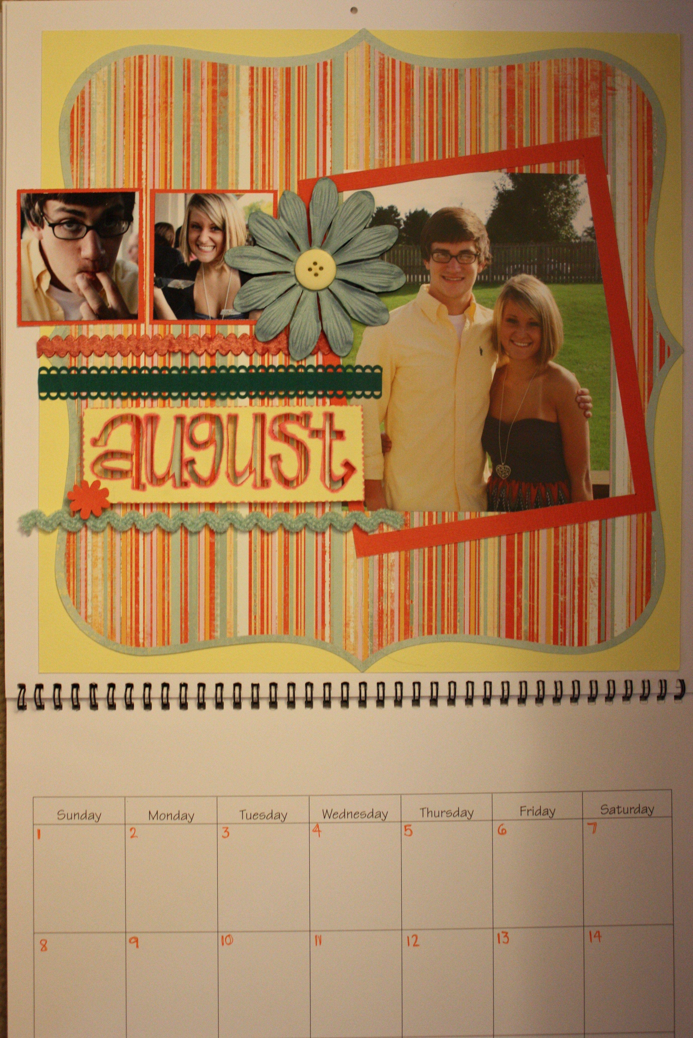 Homemade Calendar Cover : Homemade calendar christmas present for boyfriend and