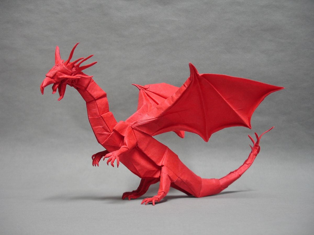 27 Spectacular Western Style Origami Dragons Mythical Magical