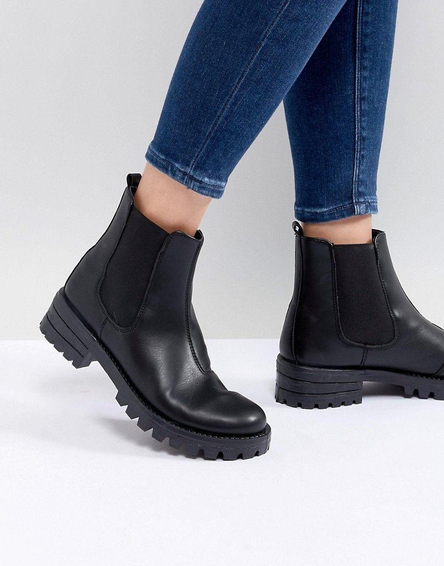 5668e61b8ca933 asos design - aquarius - chelsea-stiefel - schwarz jetzt bestellen