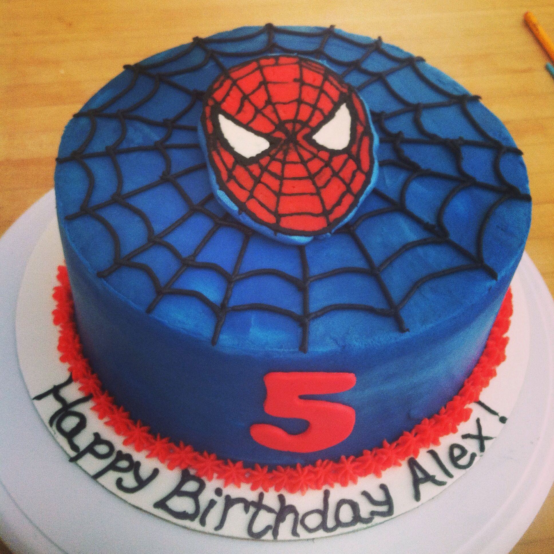Spiderman Cake Buttercream Transfer Spidey With Images
