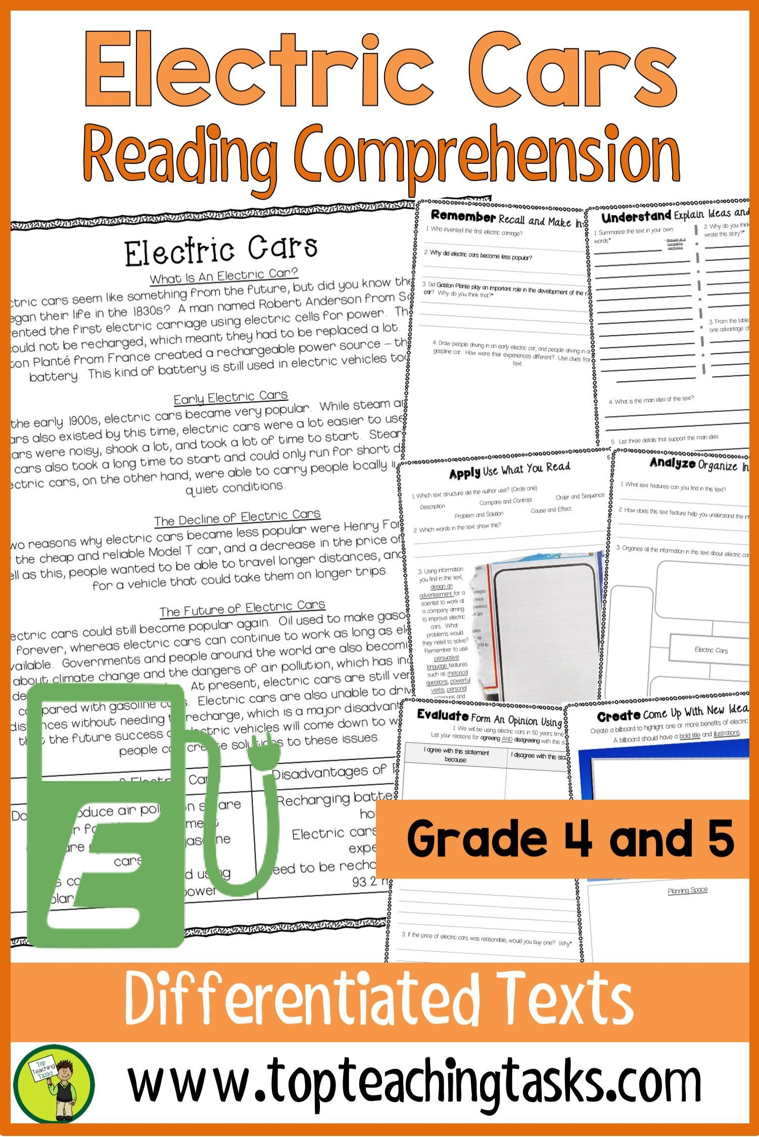 Electric Cars Reading Comprehension Passages And Questions