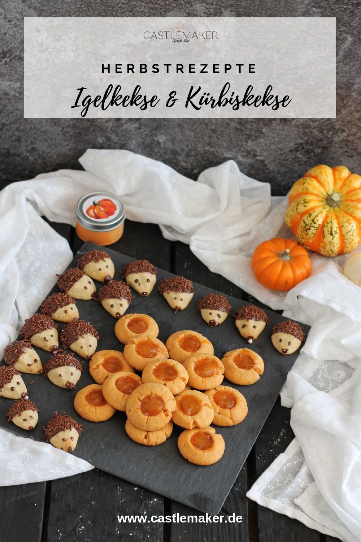 Der Herbst ist da mit Herbstplätzchen - Igelkekse und Kürbiskekse « CASTLEMAKER Lifestyle Blog