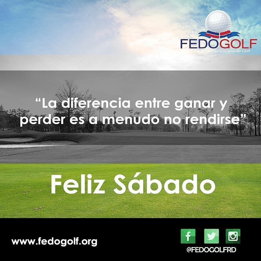 "Feliz  fin  de  semana. ""No  se  consigue  nada  sin  esfuerzo  y  lo  que  se  consigue  sin  esfuerzo  ni  lo  aprecias  ni  lo  valoras"". #fedogolf #golf #RD #swing #grass #putter #filed #hoyo #sport #deporte #pasion"