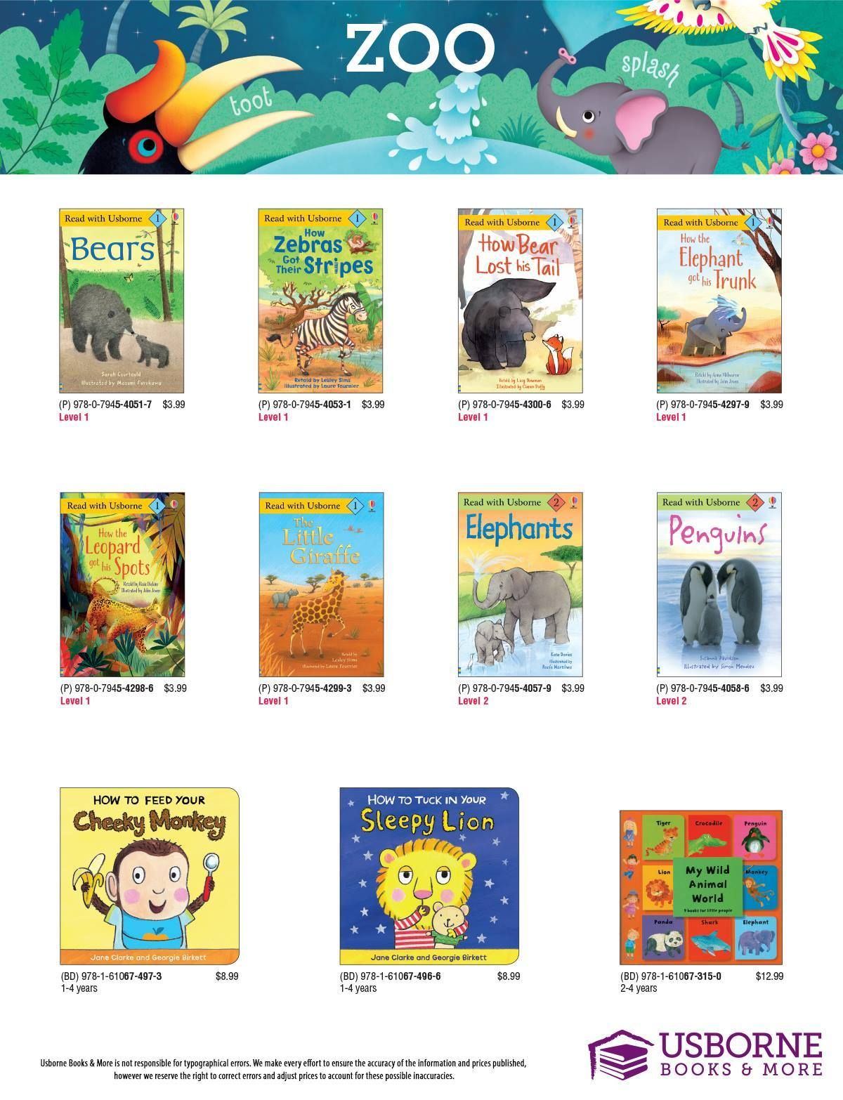 Does your child love the zoo animals read all about