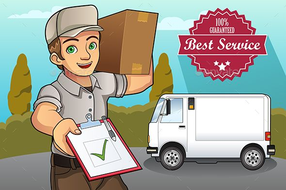 Delivery Man With Images Delivery Man Man Vector Illustration