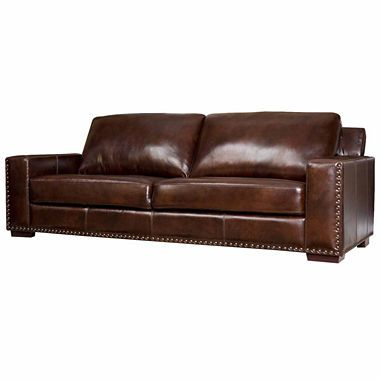 1050 Jcpenney Ellie Leather Sofa