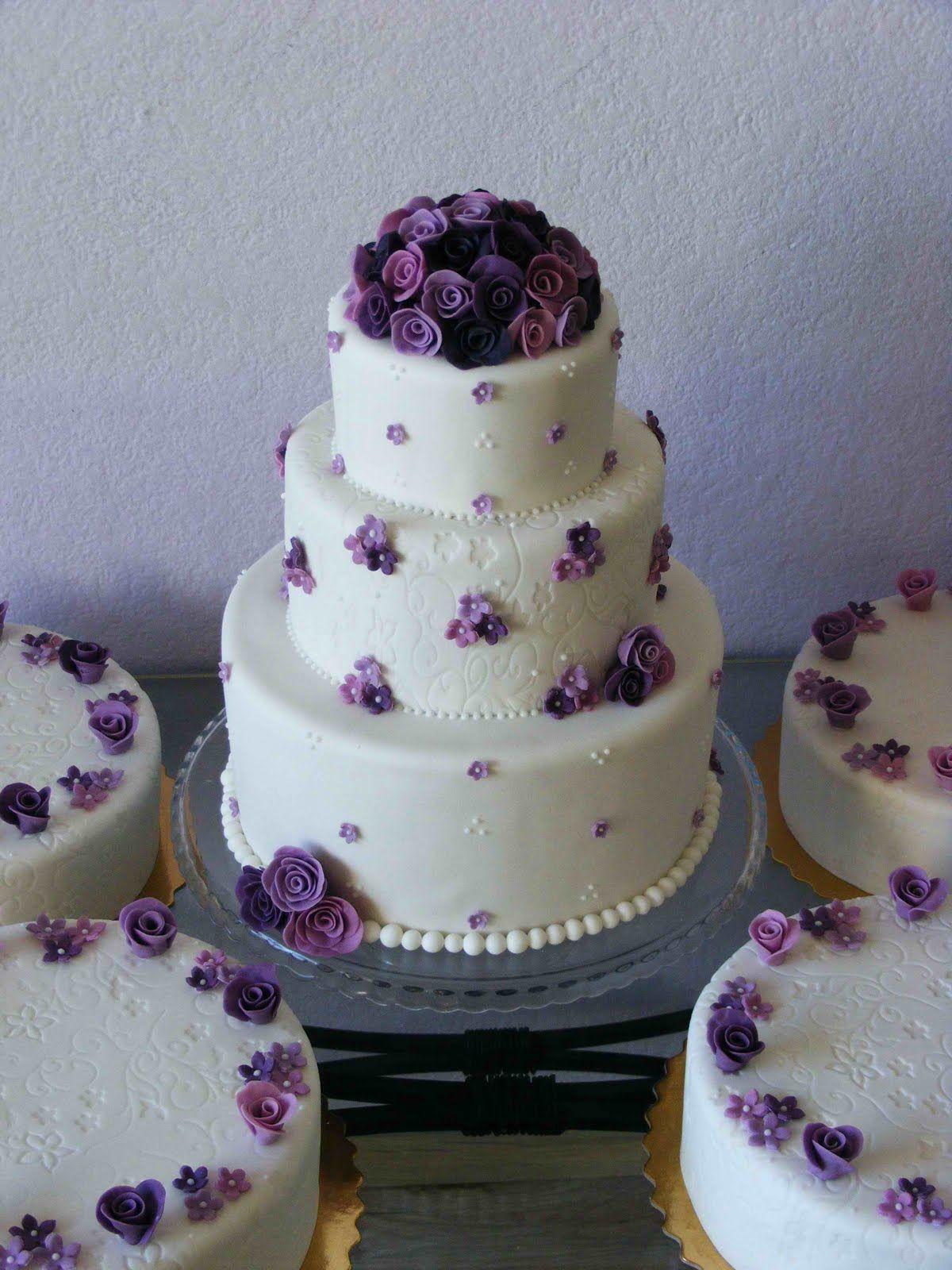 purple flower Wedding bachelorette party, Cake art