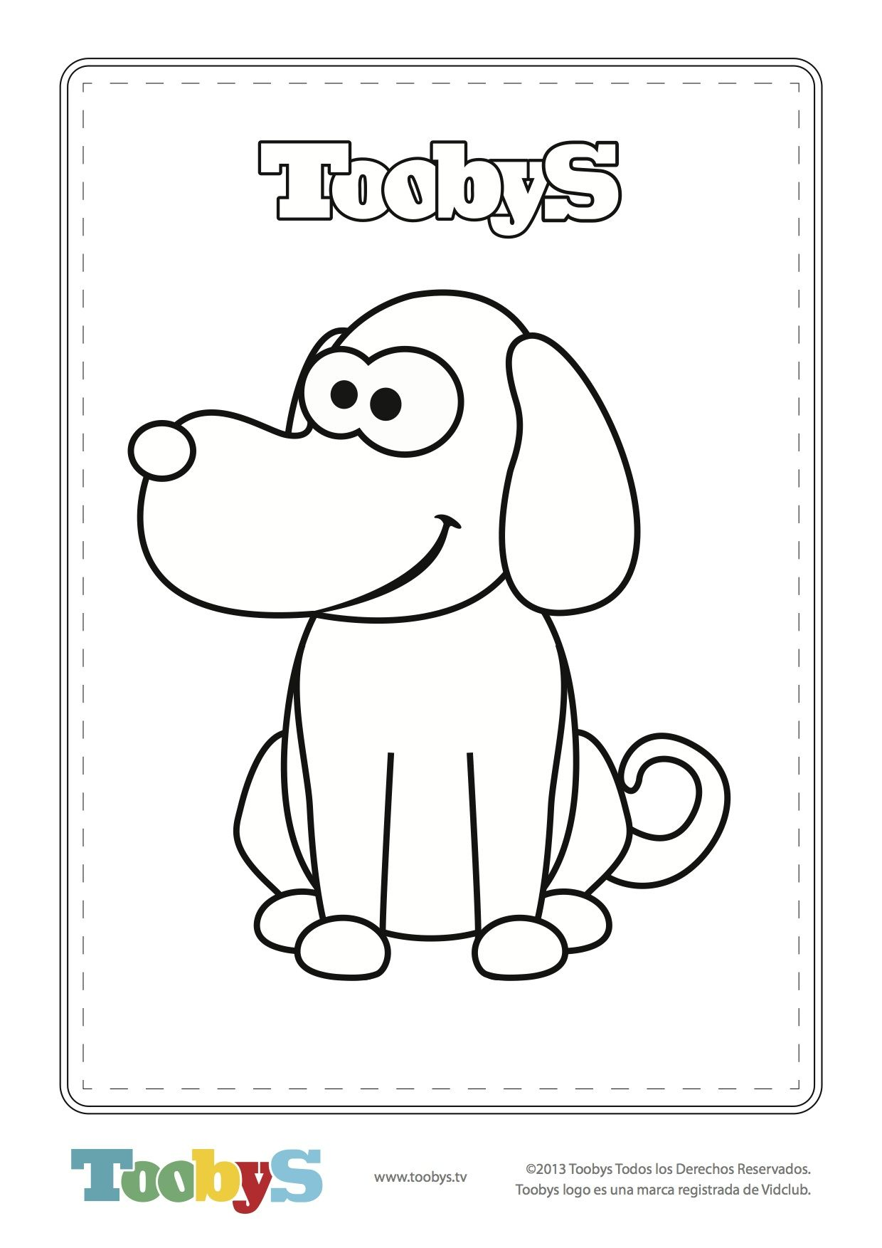 Toobys - Dog for coloring - www.toobys.tv   fiesta toobys ...