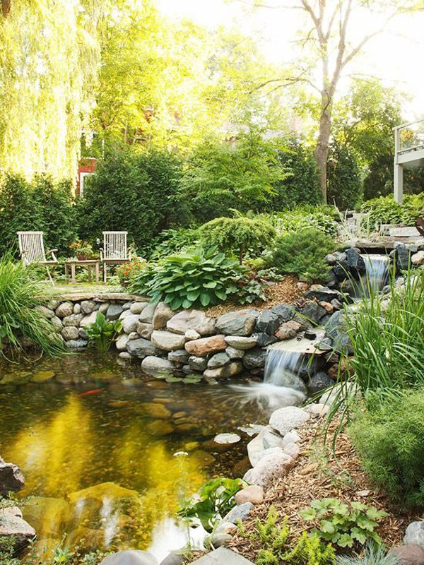 35 Dreamy Garden With Backyard Waterfall Ideas | Home Design And Interior