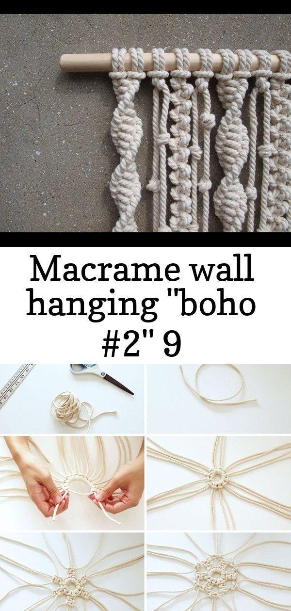 #Boho #Hanging #Macrame #Wall Image of Macrame wall hanging Boho #2 Day 3 | DIY Macramé Snowflakes Macrame Pot Hanger 100 Awesome Macrame Ideas - decoratio.co #hangersnowflake